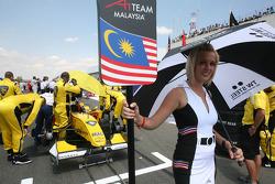 Grid girl of Fairuz Fauzy, driver of A1 Team Malaysia