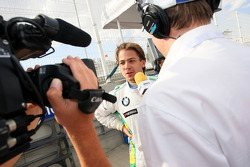 Augusto Farfus, BMW Team Germany being interviewed by Eurosport after his pole