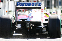 Diffuser of the Toyota TF109