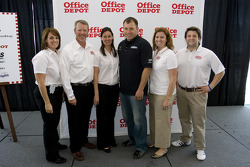 Office Depot Chamber day in the Speedway Club at the Texas Motor Speedway: Ryan Newman and friends