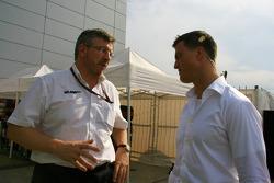 Ross Brawn and Ralf Schumacher
