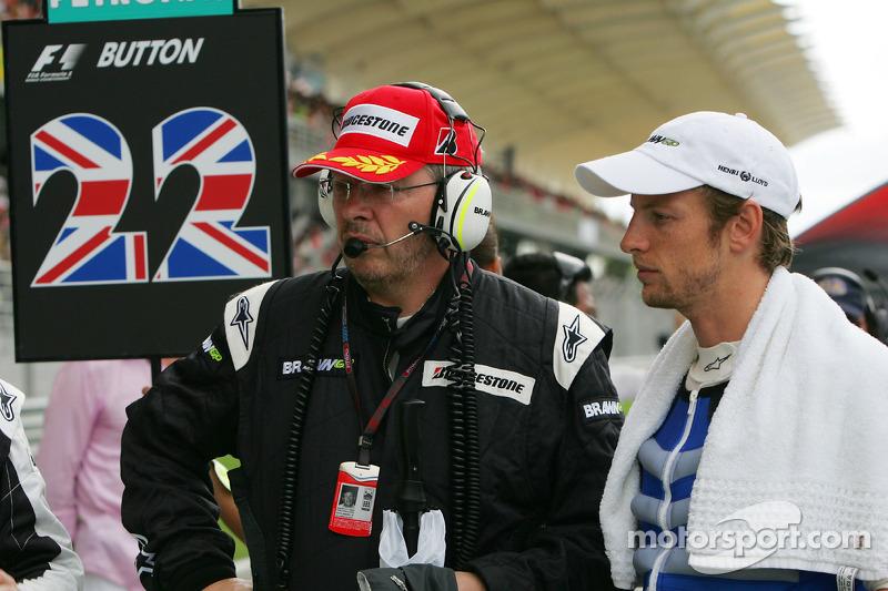 Ross Brawn, Brawn GP, Team Principal and Jenson Button, Brawn GP