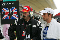 Ross Brawn, Brawn GP, Team Principal and Jenson Button, Brawn GP