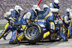 Pit stop for David Reutimann, Michael Waltrip Racing Toyota