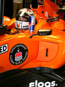 Robert Doornbos, driver of A1 Team Netherlands