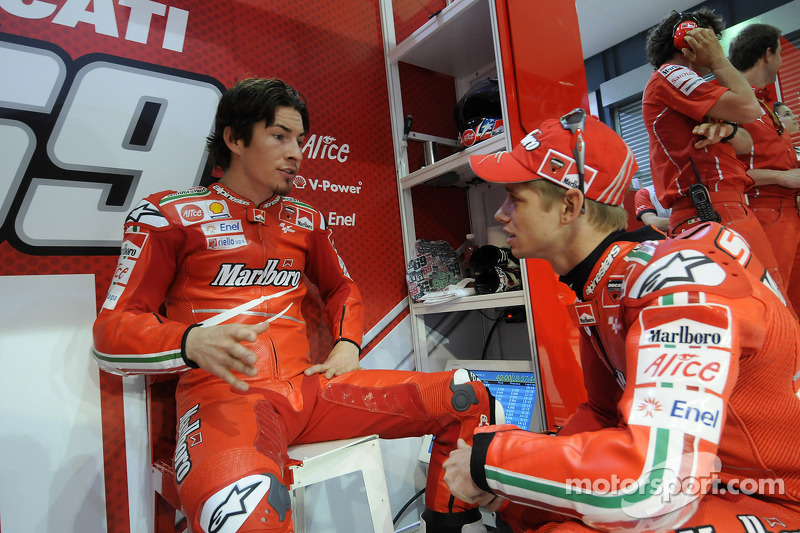2009: Nicky Hayden, Ducati Marlboro Team, y Casey Stoner, Ducati Marlboro Team