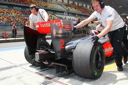 Heikki Kovalainen, McLaren Mercedes rear diffuser