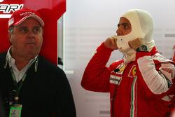 Felipe Massa, Scuderia Ferrari with his father