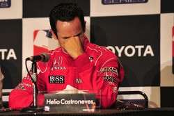 Press conference: Helio Castroneves breaks down with happiness