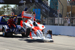 Wrecked car of Helio Castroneves, Team Penske
