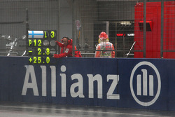 Pit sign for Kimi Raikkonen, Scuderia Ferrari