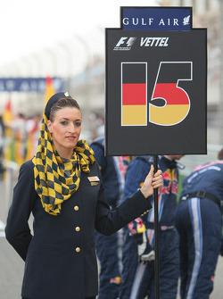 Grid girl of Sebastian Vettel, Red Bull Racing
