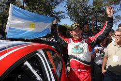 Federico Villagra celebrates 4th place