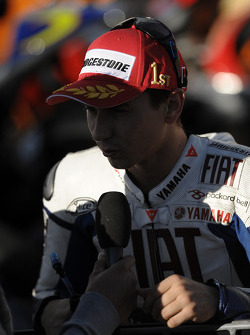 Race winner Jorge Lorenzo, Fiat Yamaha Team