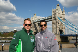 Adam Carroll, driver of A1 Team Ireland and Neel Jani, driver of A1 Team Switzerland