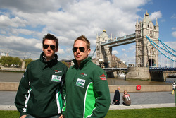 Niall Quinn, driver of A1 Team Ireland and Adam Carroll, driver of A1 Team Ireland