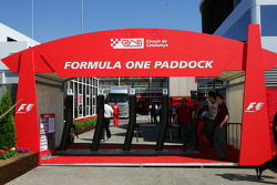 The entrance of the paddock