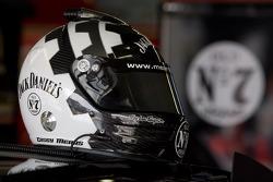 Jack Daniel's helmet in the garage
