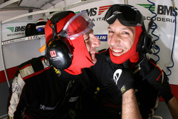 BMS Scuderia Italia team members have fun