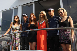 Nico Rosberg, Williams F1 Team and Kazuki Nakajima, Williams F1 Team Formula 1 World Championship, Rd 6, Monaco Grand Prix, Saturday