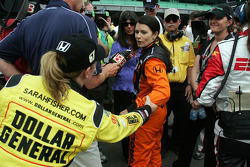 Danica Patrick speaks with Sarah Fisher