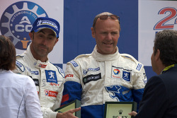 LMP1 podium: David Brabham with Team Peugeot Total boss Olivier Quesnel