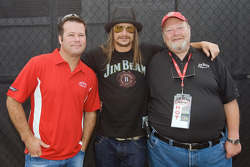 Robby Gordon, Kid Rock, and Fred Noe poses for a photo