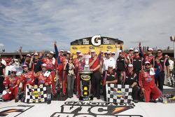 Victory lane: race winner Mark Martin, Hendrick Motorsports Chevrolet, celebrates