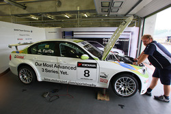 Pit of Augusto Farfus, BMW Team Germany