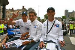 Alexander Wurz, Marc Gene and David Brabham