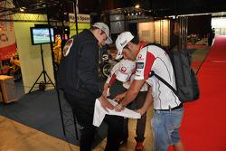 Николо Канепа, Pramac Racing посещает трассу и музей Ассена