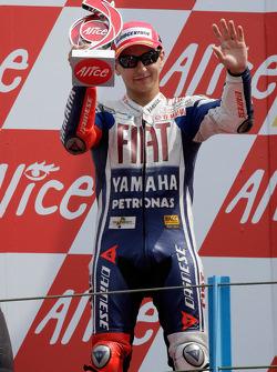 Podium: second place Jorge Lorenzo, Fiat Yamaha Team