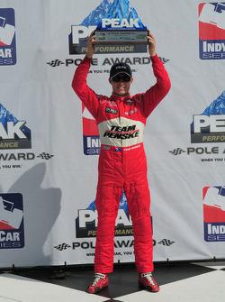 Ryan Briscoe, Team Penske gets the pole award