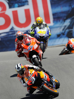 Dani Pedrosa, Repsol Honda Team, Casey Stoner, Ducati Marlboro Team, Valentino Rossi, Fiat Yamaha Team