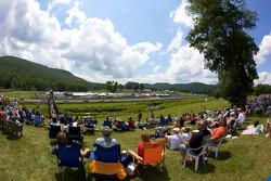 Fans watch race action