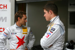 Paul di Resta, Team HWA AMG Mercedes and Mathias Lauda, Mücke Motorsport