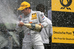 Podium, Gary Paffett, Team HWA AMG Mercedes, spraying champaign