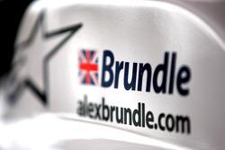 Bodywork detail of Alex Brundle