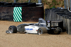 The car of Jens Hoing in the gravel