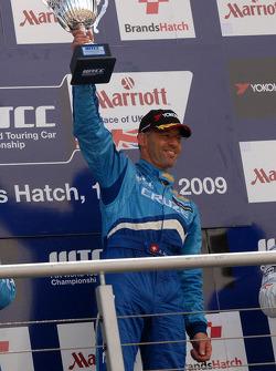 Alain Menu celebrates victory