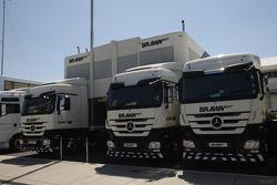 Brawn GP trucks