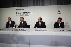 Dr. Norbert Reithofer (chairman of BMW AG), Maximilian Schöberl, Dr. Klaus Draeger (head of development), Dr. Mario Theissen (BMW Sauber F1 Team, BMW Motorsport Director)