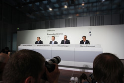 Dr. Norbert Reithofer (chairman of BMW AG), Dr. Klaus Draeger (head of development), Dr. Mario Theissen (BMW Sauber F1 Team, BMW Motorsport Director)