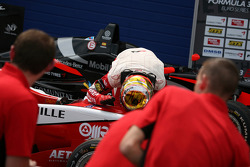 Race winner Jules Bianchi, ART Grand Prix Dallara F308 Mercedes