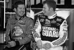 Martin Truex Jr., Earnhardt Ganassi Racing Chevrolet and Dale Earnhardt Jr., Hendrick Motorsports Chevrolet