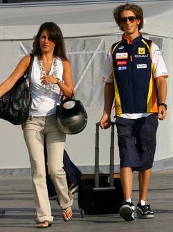 Romain Grosjean, Renault F1 Team and his girlfriend Marion Jolles