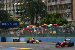 Luca Badoer, Scuderia Ferrari and Romain Grosjean, Renault F1 Team