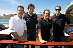 Pre-event press conference: Scott Pruett, Ron Fellows, Jacques Villeneuve and Brad Keselowski