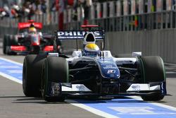 Nico Rosberg, Williams F1 Team et Lewis Hamilton, McLaren Mercedes