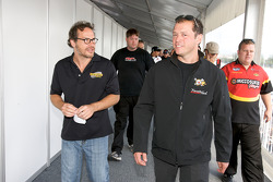 Drivers and crew chiefs meeting: Jacques Villeneuve and Jean-François Dumoulin
